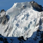 La partie supérieure de la face nord d'Argentière