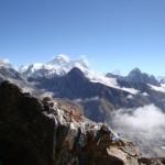 Vue du Gokyo Ri, au fond l'Everest