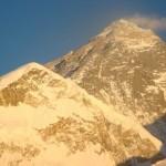 Coucher de soleil sur l'Everest